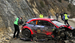 Ott Tanak crashes his WRC Hyundai and walks away unhurt