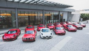 Alfa Romeo car showroom