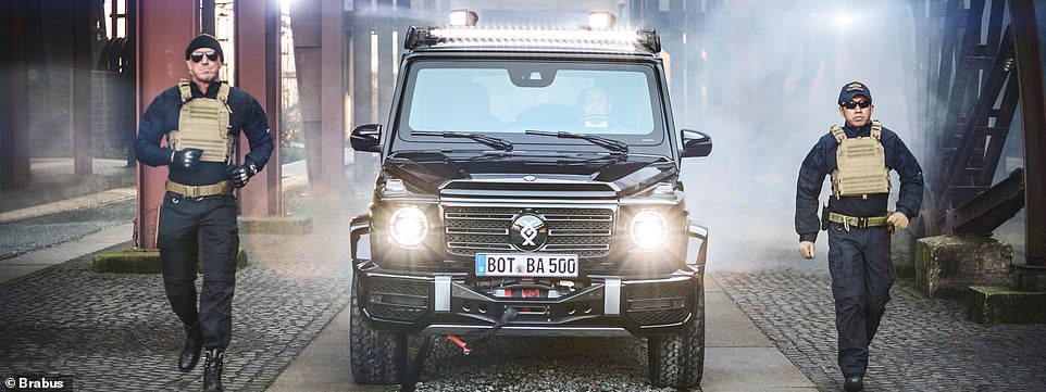 Brabus armoured G-Wagen can withstand bombs and an AK47 attack